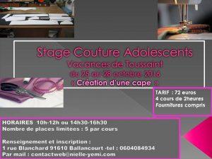 Votre enfant pourras créer sa cape en drap de laine en stage pendant les vacances de Toussaint
