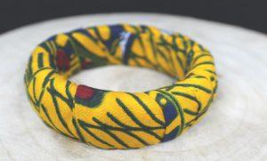 bracelet wax imprime en pagne africain